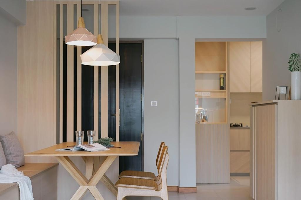 Minimalistic, HDB, Dining Room, Punggol Central, Interior Designer, Authors • Interior & Styling
