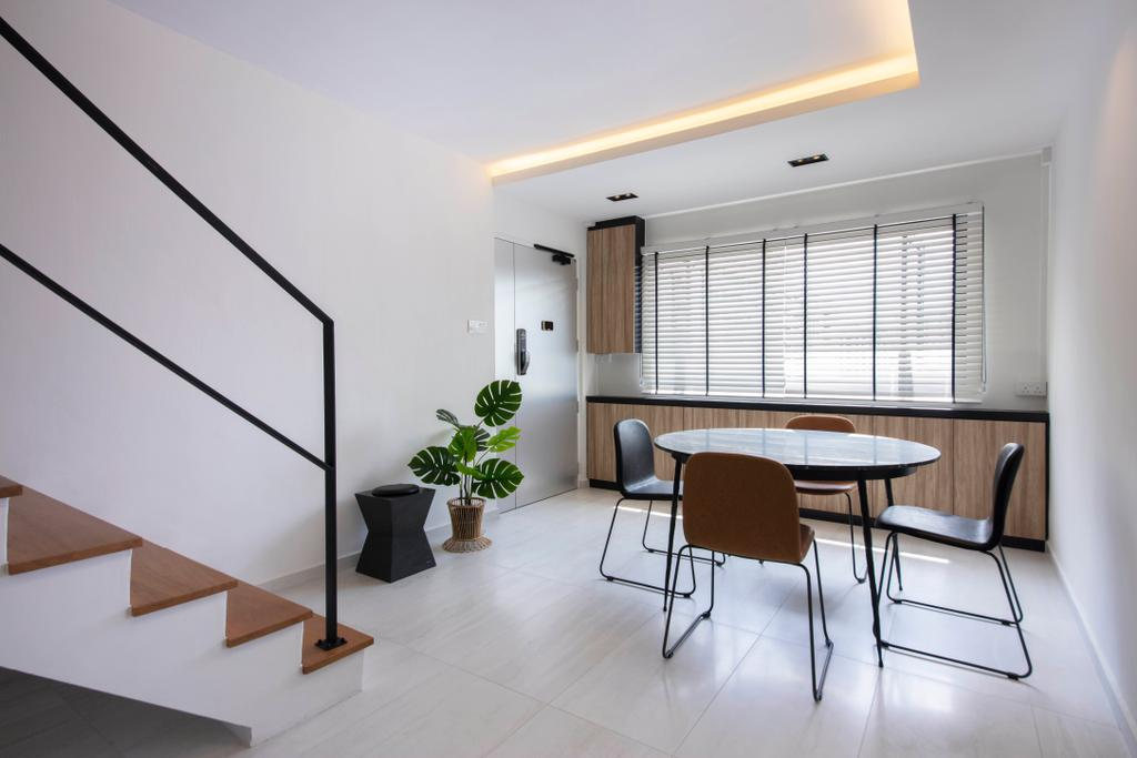 Contemporary, HDB, Dining Room, Woodlands Ring Road, Interior Designer, Dyel Design