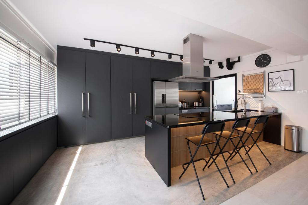 Contemporary, HDB, Kitchen, Woodlands Ring Road, Interior Designer, Dyel Design