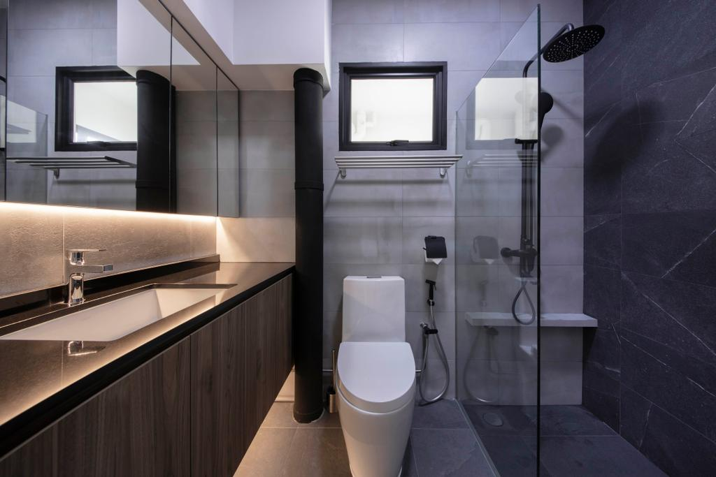 Contemporary, HDB, Bathroom, Woodlands Ring Road, Interior Designer, Dyel Design