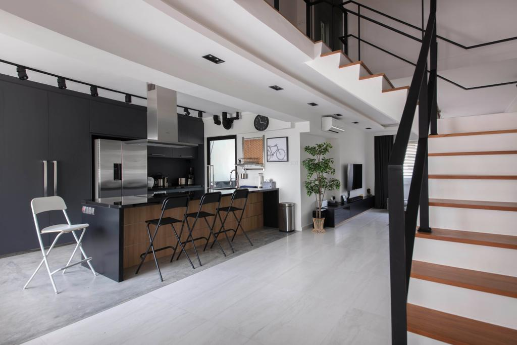 Contemporary, HDB, Kitchen, Woodlands Ring Road, Interior Designer, Dyel Design
