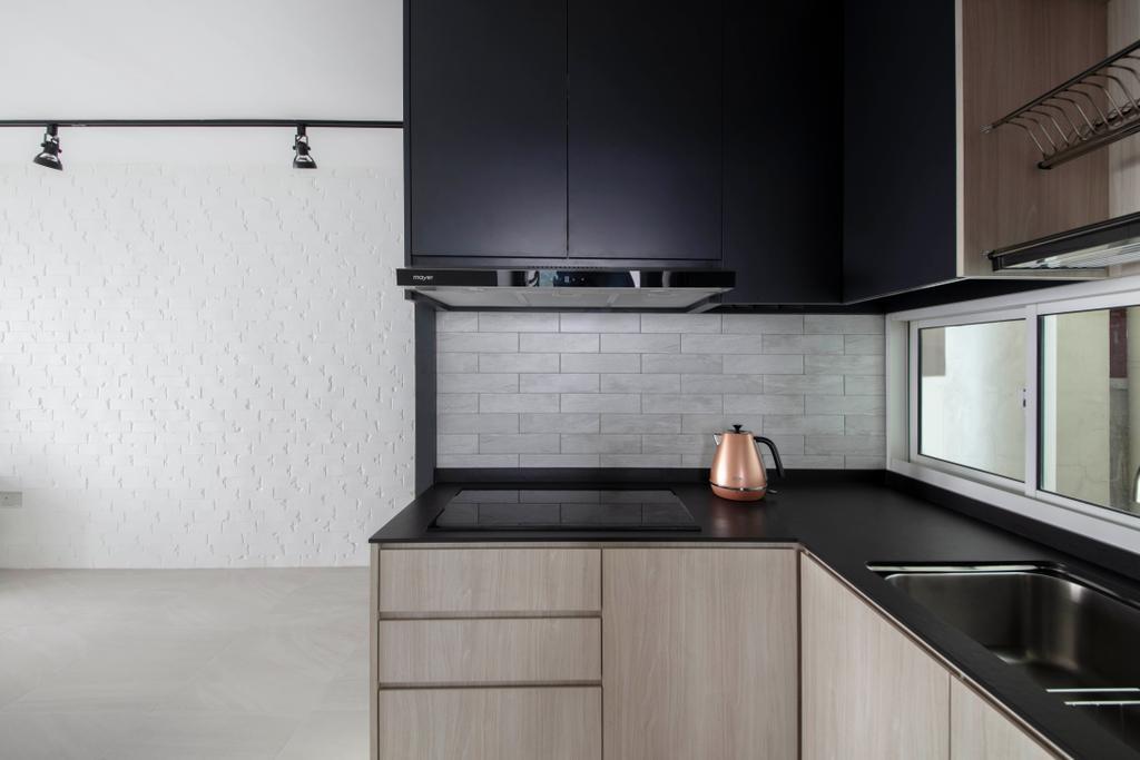 Contemporary, HDB, Kitchen, Ang Mo Kio Street 52, Interior Designer, KDOT