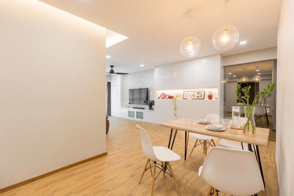 Contemporary, HDB, Dining Room, Anchorvale Road, Interior Designer, Laurus Design