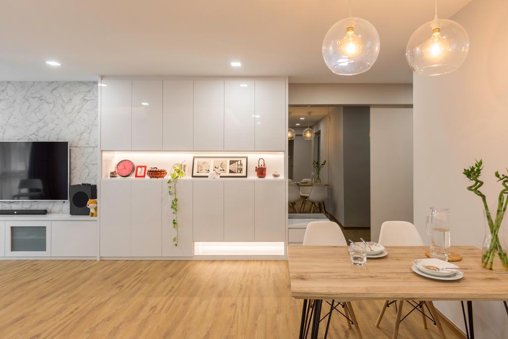 Contemporary, HDB, Living Room, Anchorvale Road, Interior Designer, Laurus Design