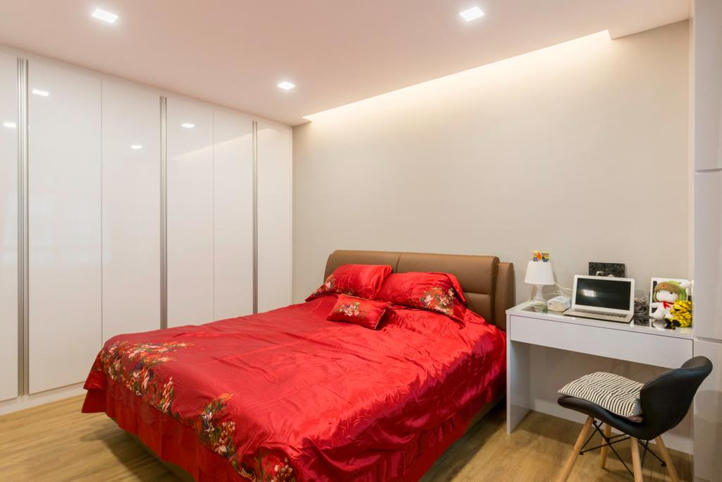 Contemporary, HDB, Bedroom, Anchorvale Road, Interior Designer, Laurus Design