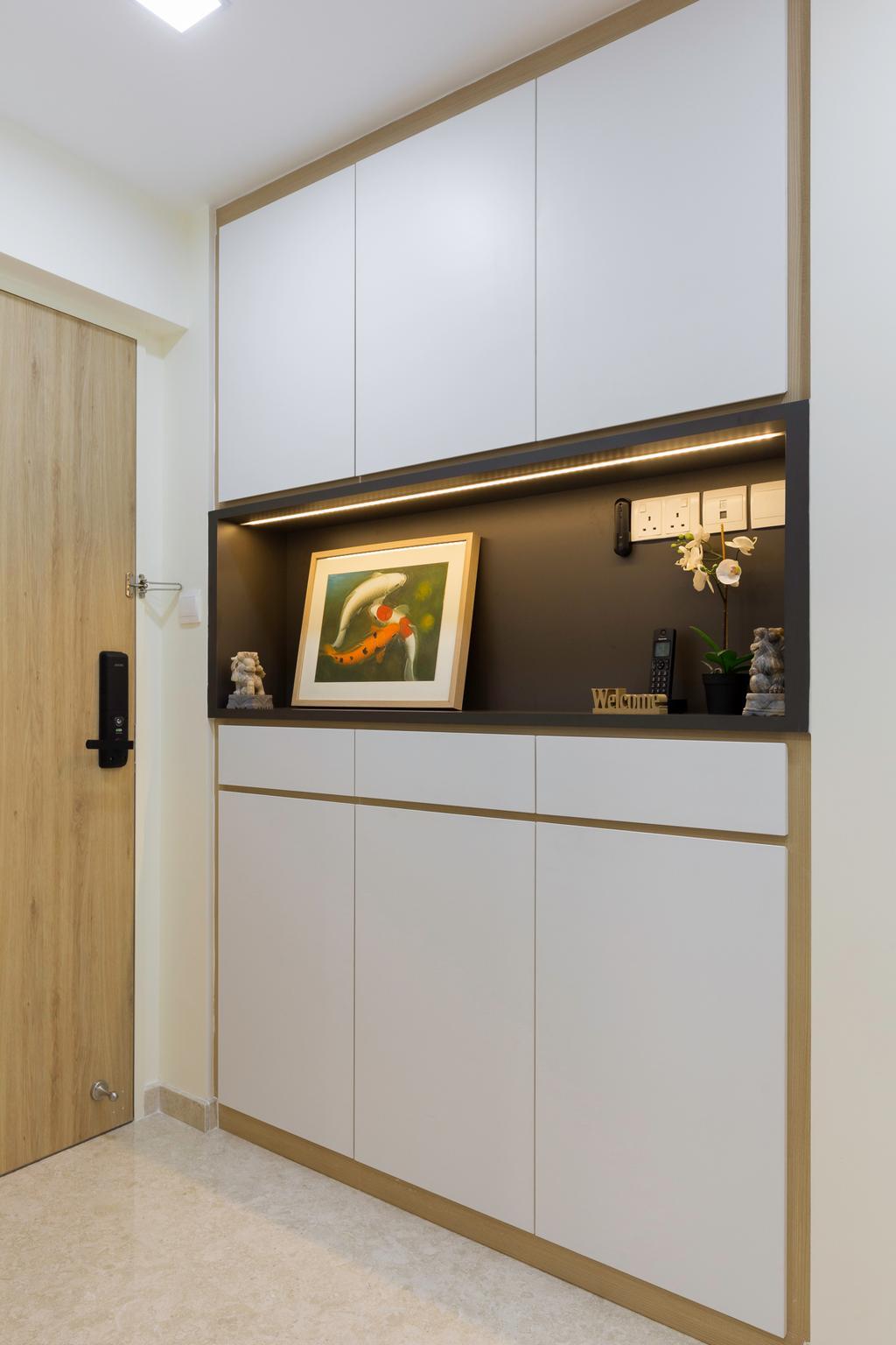 Minimalistic, HDB, Living Room, Eunos Road, Interior Designer, Hygge Design