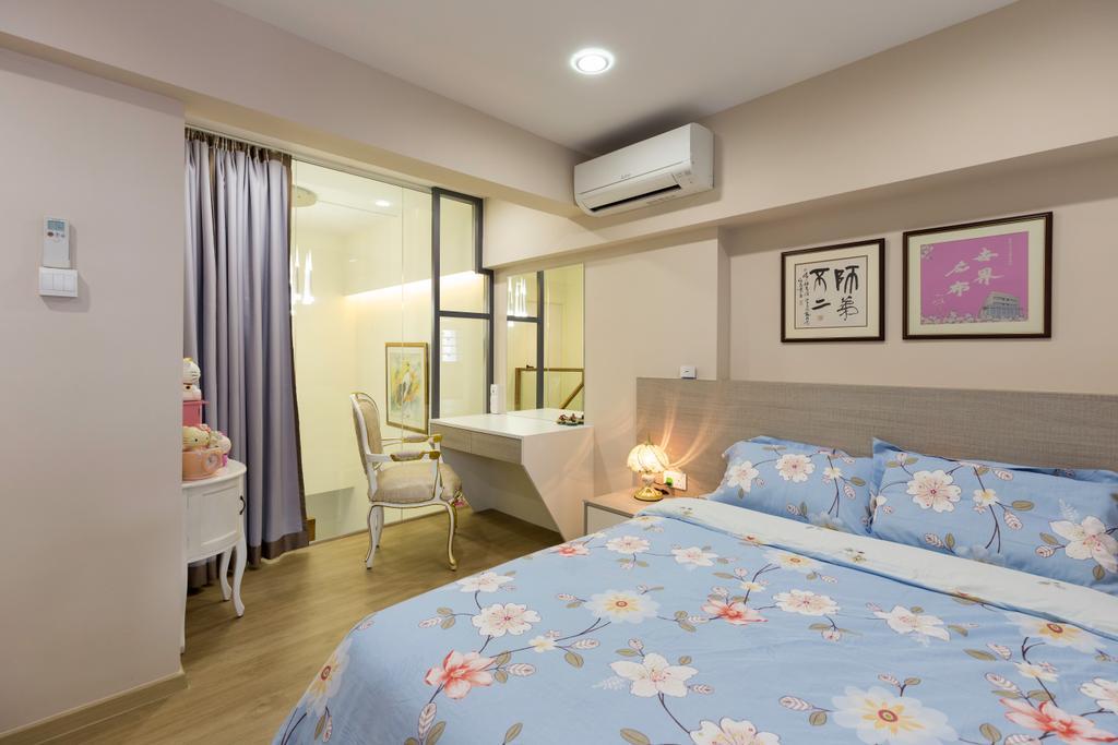 Minimalistic, HDB, Bedroom, Eunos Road, Interior Designer, Hygge Design