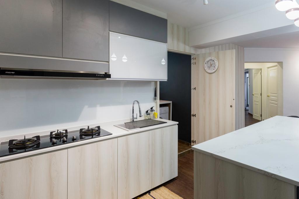 Contemporary, HDB, Kitchen, Senja Road, Interior Designer, Style Living Interior