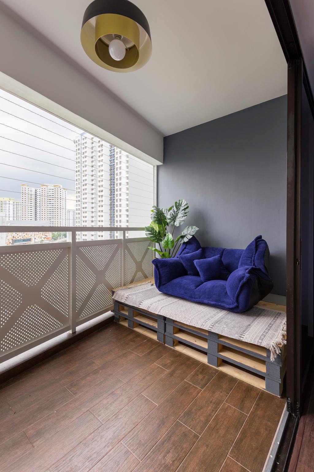 Contemporary, HDB, Balcony, Senja Road, Interior Designer, Style Living Interior