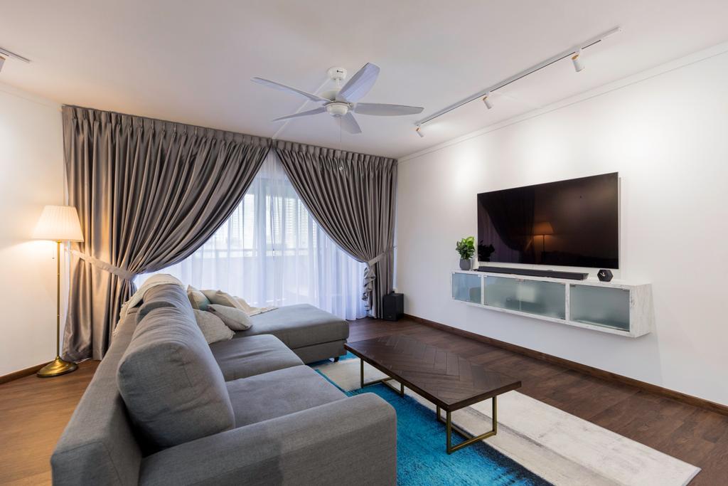 Contemporary, HDB, Living Room, Senja Road, Interior Designer, Style Living Interior