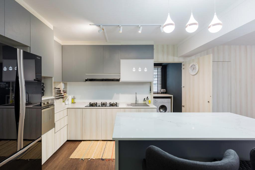Contemporary, HDB, Kitchen, Senja Road, Interior Designer, Style Living Interior