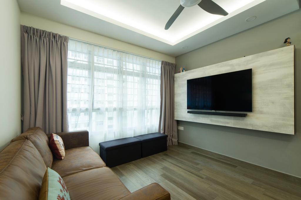 Contemporary, HDB, Living Room, Anchorvale Road, Interior Designer, Cozy Ideas Interior Design