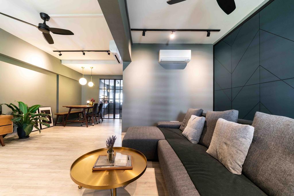 Scandinavian, HDB, Living Room, Telok Blangah Drive, Interior Designer, Fineline Design