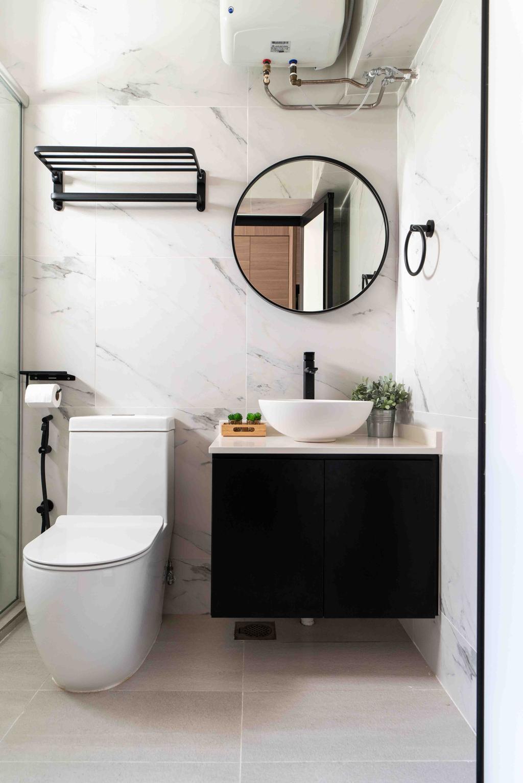 Contemporary, HDB, Bathroom, Edgefield Plains, Interior Designer, Fineline Design
