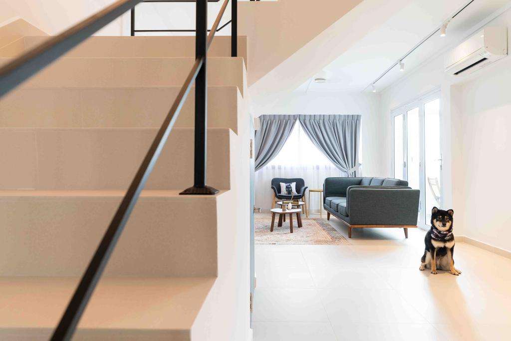 Minimalist, HDB, Living Room, Bishan Street 22, Interior Designer, Fineline Design, Maisonette