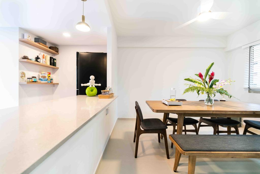 Minimalist, HDB, Dining Room, Bishan Street 22, Interior Designer, Fineline Design