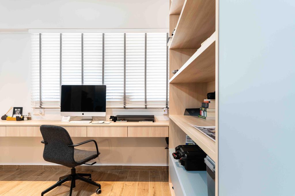 Minimalist, HDB, Study, Bishan Street 22, Interior Designer, Fineline Design