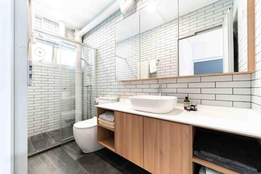 Minimalist, HDB, Bathroom, Bishan Street 22, Interior Designer, Fineline Design