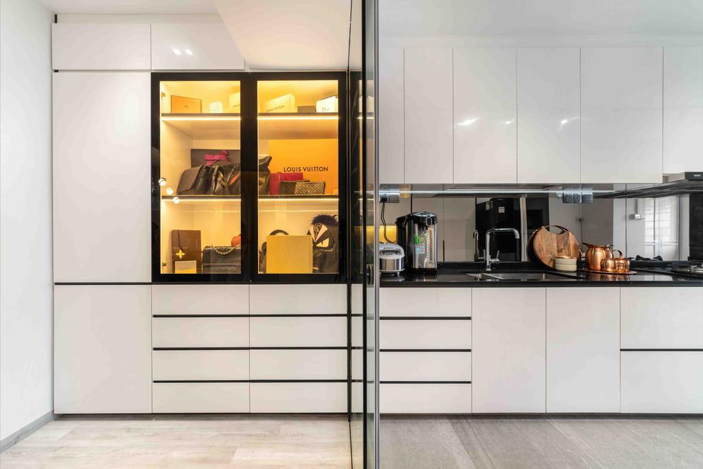 Contemporary, HDB, Kitchen, Tampines Street 12, Interior Designer, Fineline Design