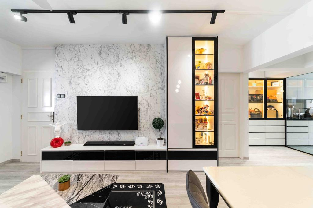 Contemporary, HDB, Living Room, Tampines Street 12, Interior Designer, Fineline Design