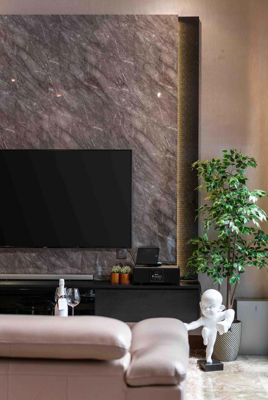 Contemporary, Landed, Living Room, Park Villas Green, Interior Designer, Fineline Design