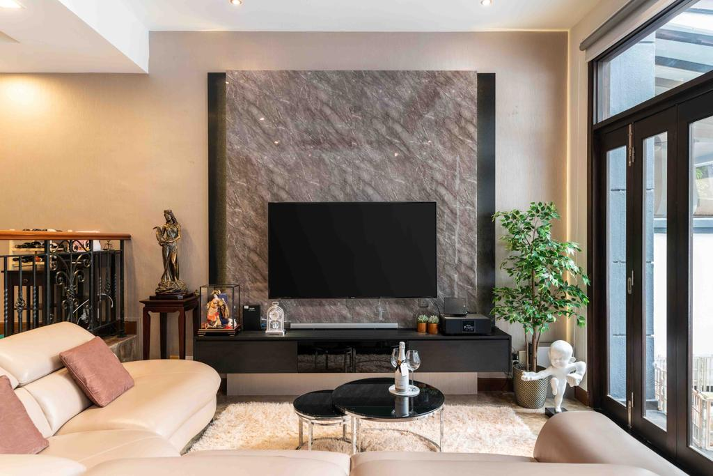 Contemporary, Landed, Living Room, Park Villas Green, Interior Designer, Fineline Design