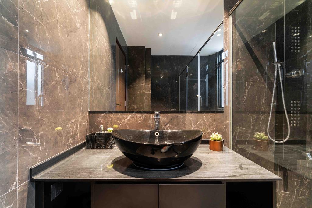Contemporary, Landed, Bathroom, Park Villas Green, Interior Designer, Fineline Design