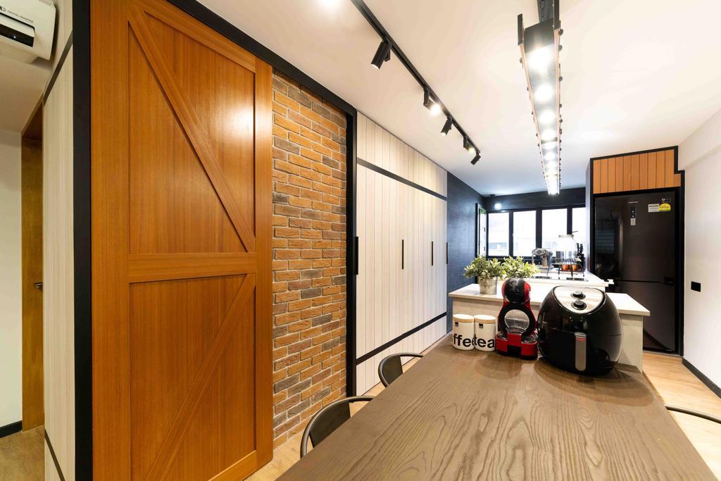 Transitional, HDB, Ubi Avenue 1, Interior Designer, Fineline Design, Contemporary