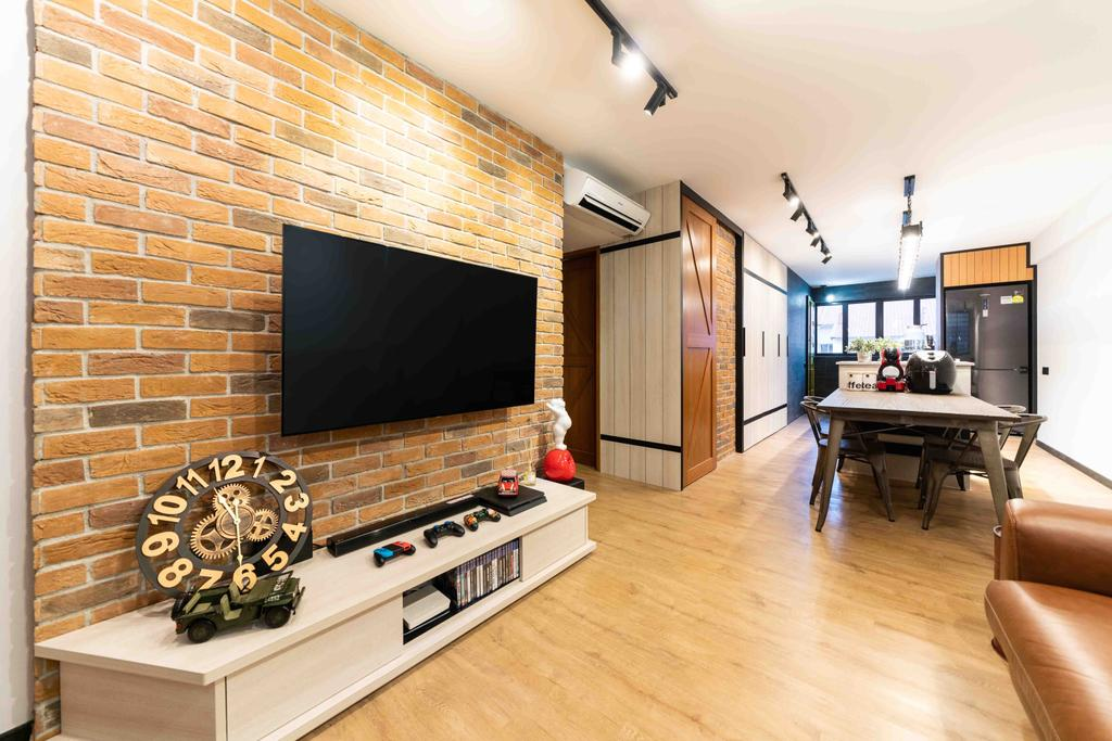 Transitional, HDB, Living Room, Ubi Avenue 1, Interior Designer, Fineline Design, Contemporary