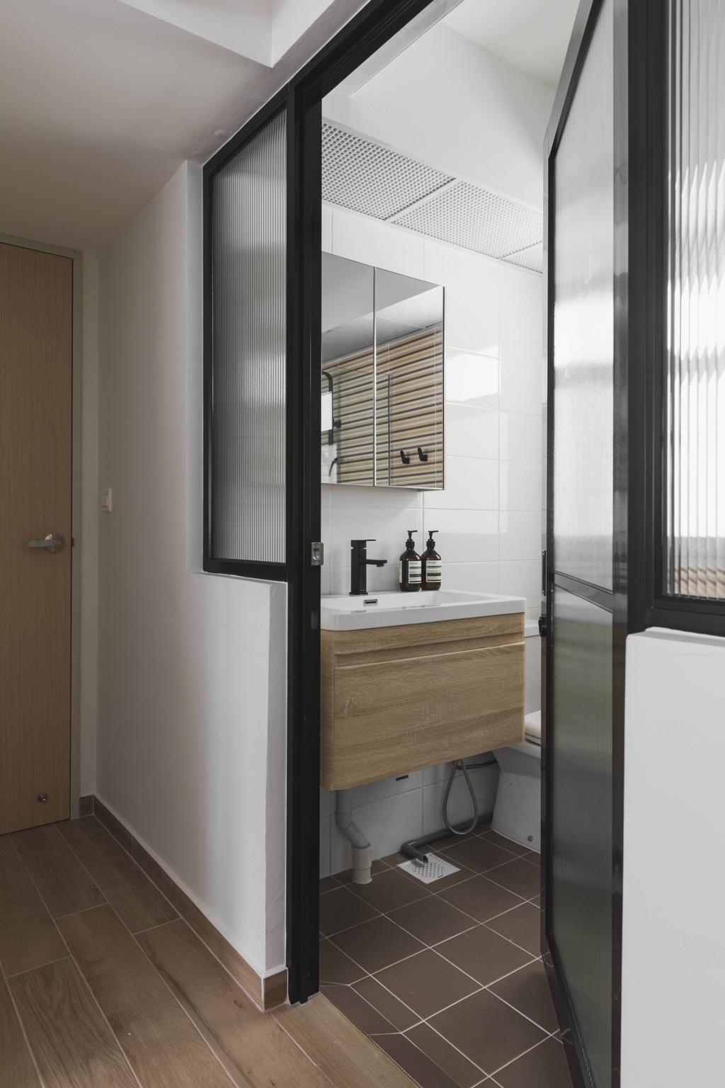 Scandinavian, HDB, Bathroom, Bukit Batok West Avenue 8, Interior Designer, Happe Design Atelier