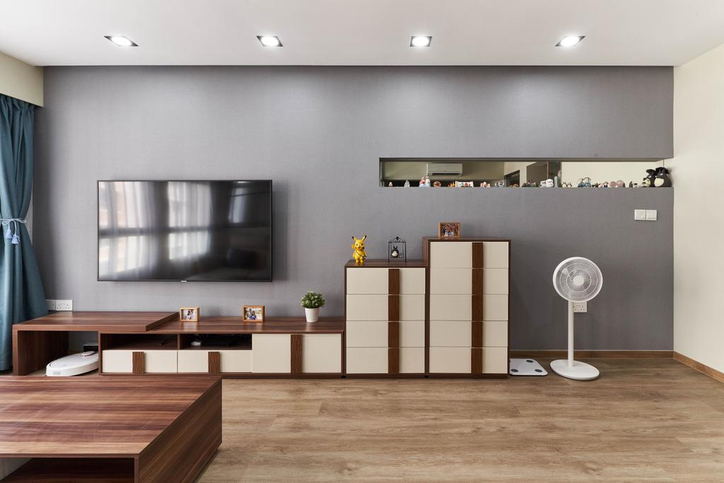 Contemporary, HDB, Living Room, Canberra Street, Interior Designer, INCLOVER DESIGN