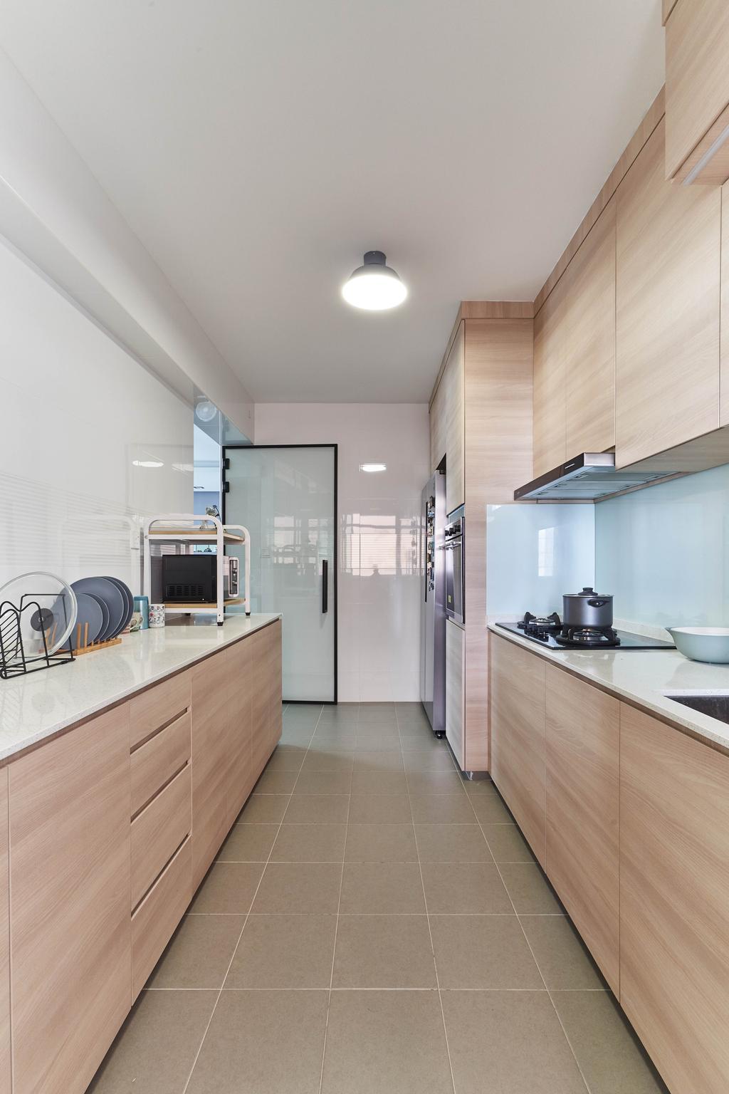 Contemporary, HDB, Kitchen, Canberra Street, Interior Designer, INCLOVER DESIGN