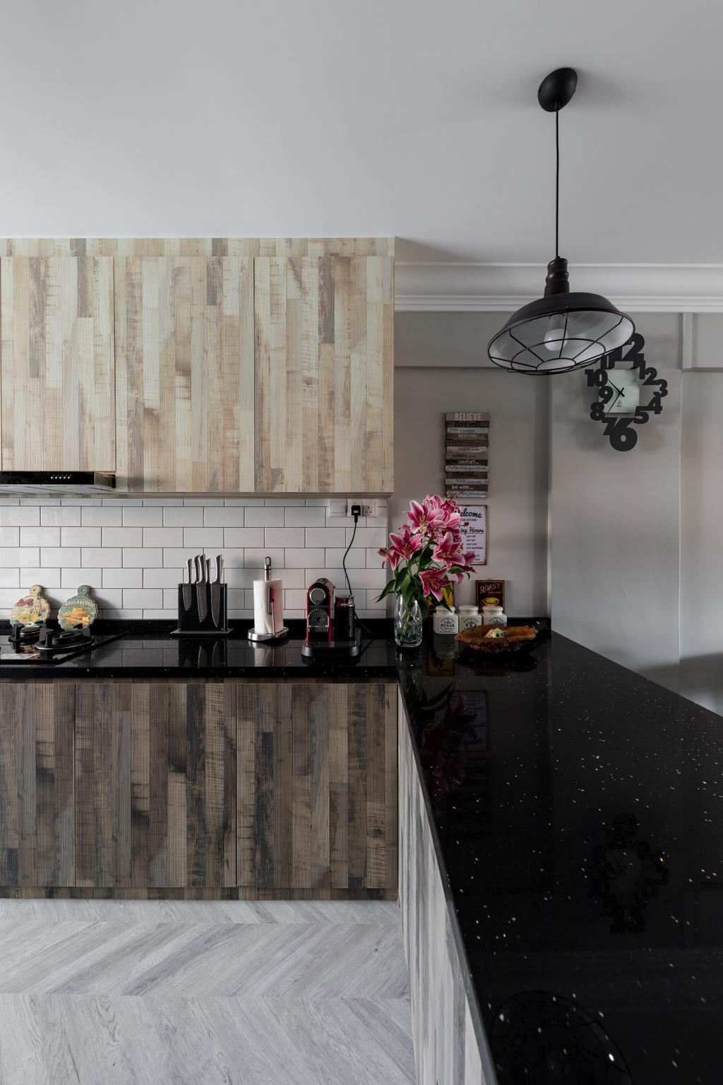 Contemporary, HDB, Kitchen, Serangoon Avenue 3, Interior Designer, Dap Atelier