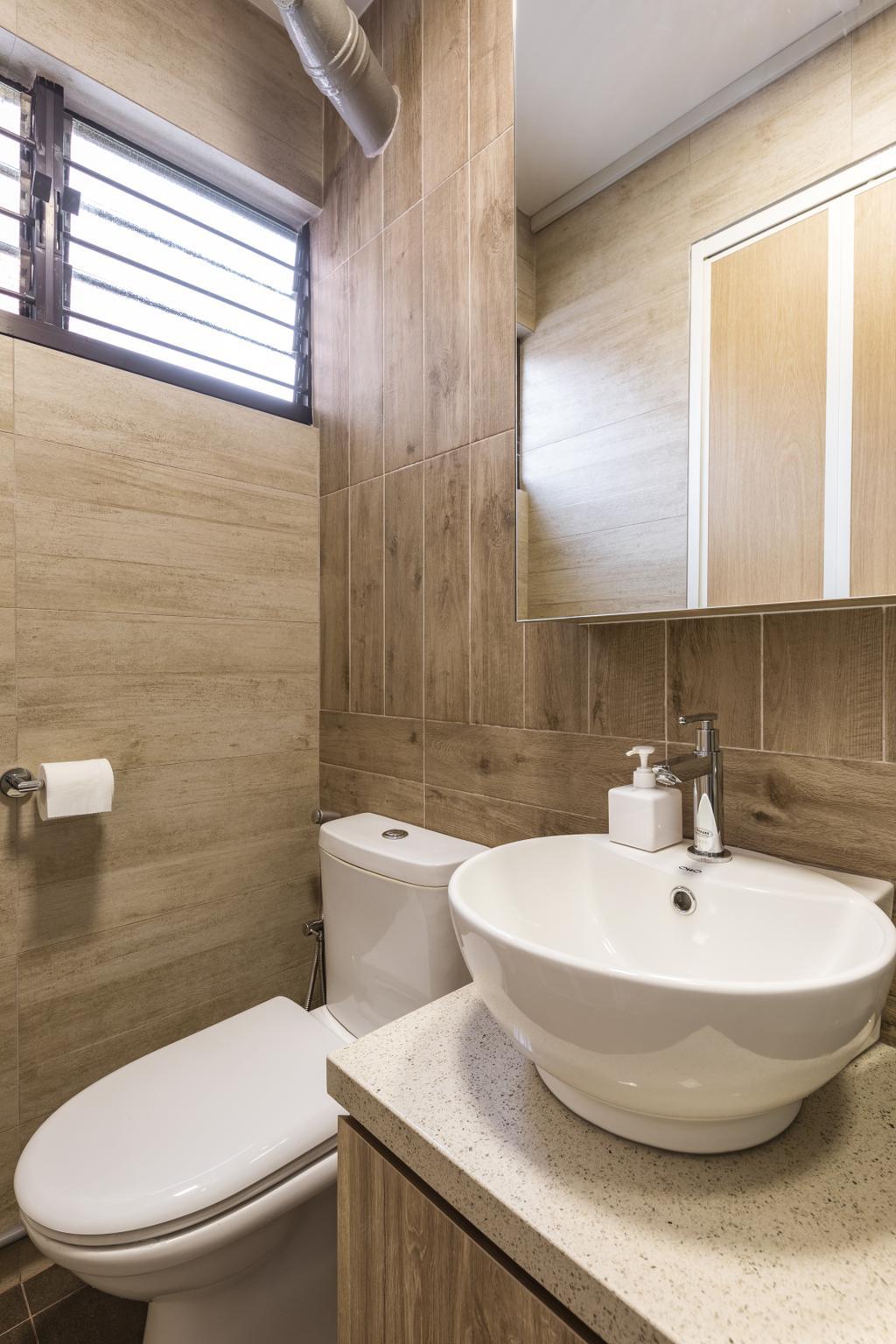 Contemporary, HDB, Bathroom, Serangoon Avenue 3, Interior Designer, Dap Atelier
