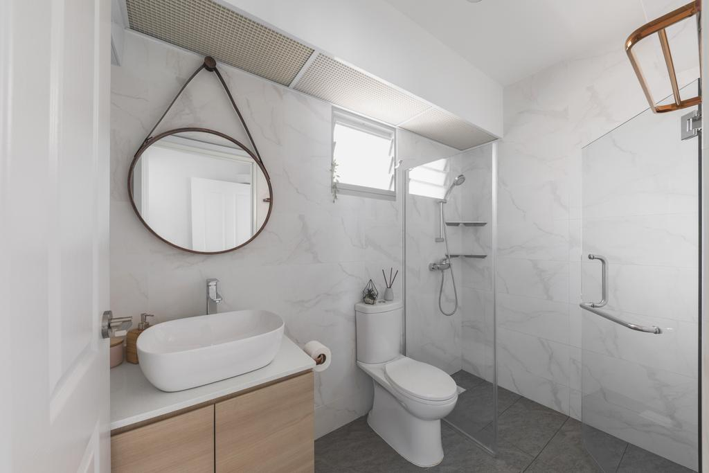 Scandinavian, HDB, Bathroom, Sumang Lane, Interior Designer, Project Guru, Contemporary
