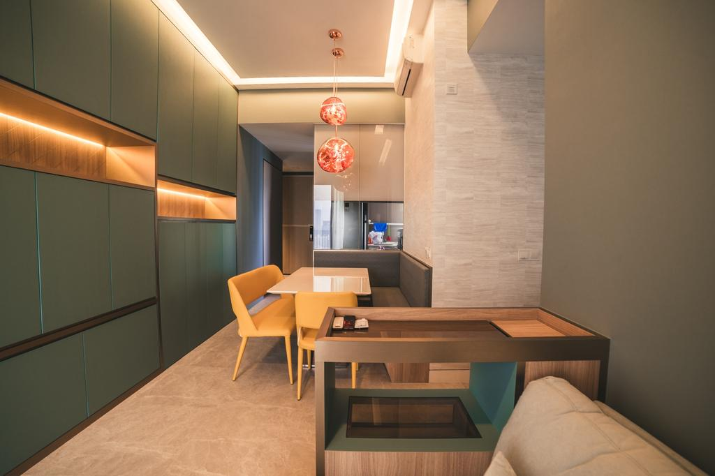 Contemporary, Condo, Living Room, Highline Residences, Interior Designer, Archive Design