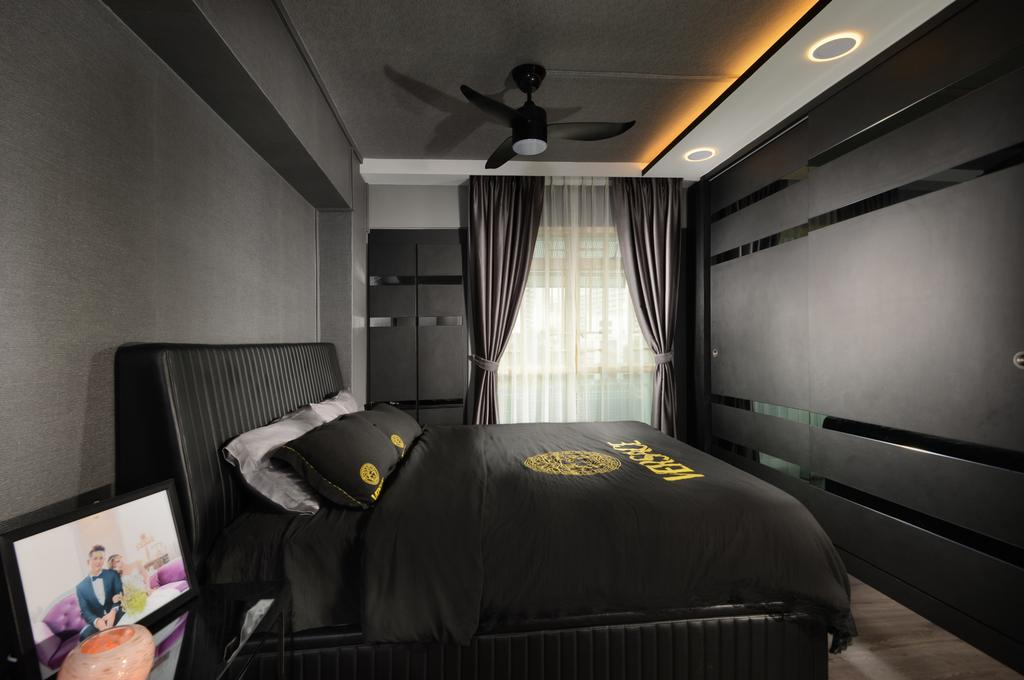 Contemporary, HDB, Bedroom, Rivervale Drive, Interior Designer, Darwin Interior