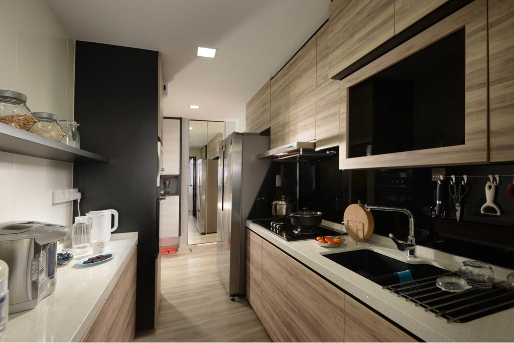 Contemporary, HDB, Kitchen, Marsiling Road, Interior Designer, Darwin Interior