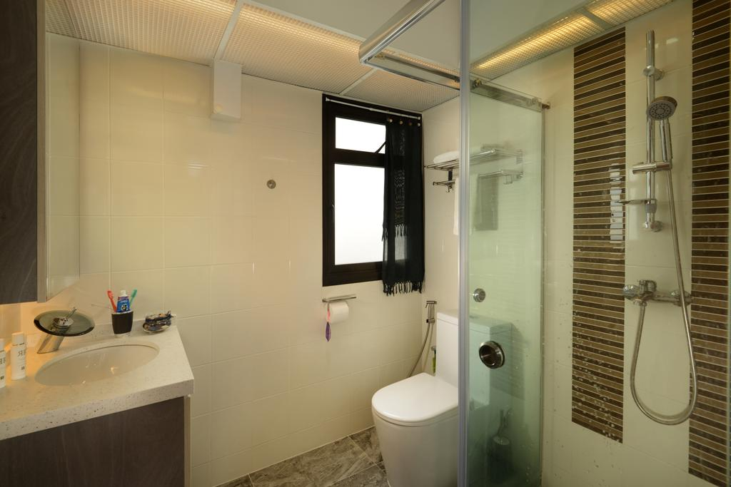 Contemporary, HDB, Bathroom, Marsiling Road, Interior Designer, Darwin Interior