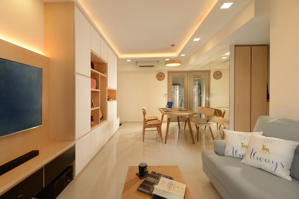 Scandinavian, Condo, Living Room, Westwood Residences, Interior Designer, Darwin Interior, Contemporary