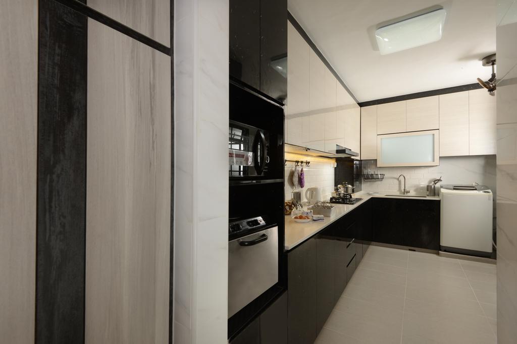 Contemporary, HDB, Kitchen, Jurong West Street 24, Interior Designer, Darwin Interior