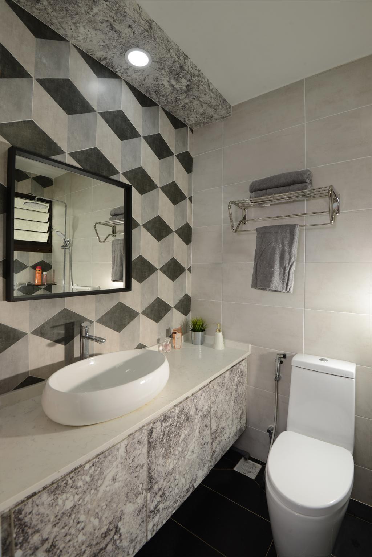 Contemporary, HDB, Bathroom, Jurong West Street 24, Interior Designer, Darwin Interior