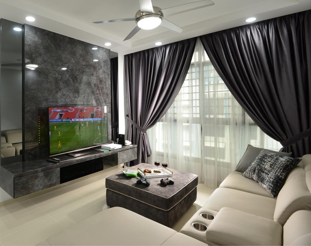 Contemporary, HDB, Living Room, Jurong West Street 24, Interior Designer, Darwin Interior