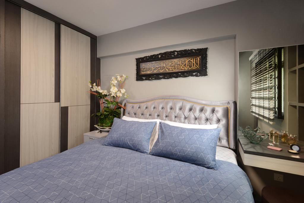 Transitional, HDB, Bedroom, Anchorvale Drive, Interior Designer, Darwin Interior, Contemporary