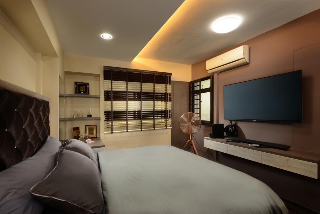 Transitional, HDB, Bedroom, Anchorvale Drive, Interior Designer, Darwin Interior, Contemporary