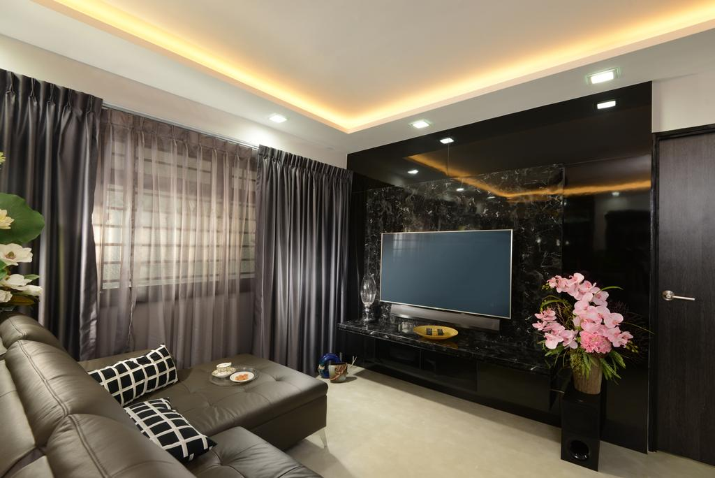 Transitional, HDB, Anchorvale Drive, Interior Designer, Darwin Interior, Contemporary