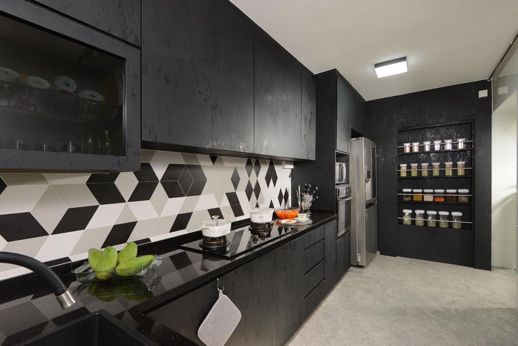 Transitional, HDB, Kitchen, Anchorvale Drive, Interior Designer, Darwin Interior, Contemporary