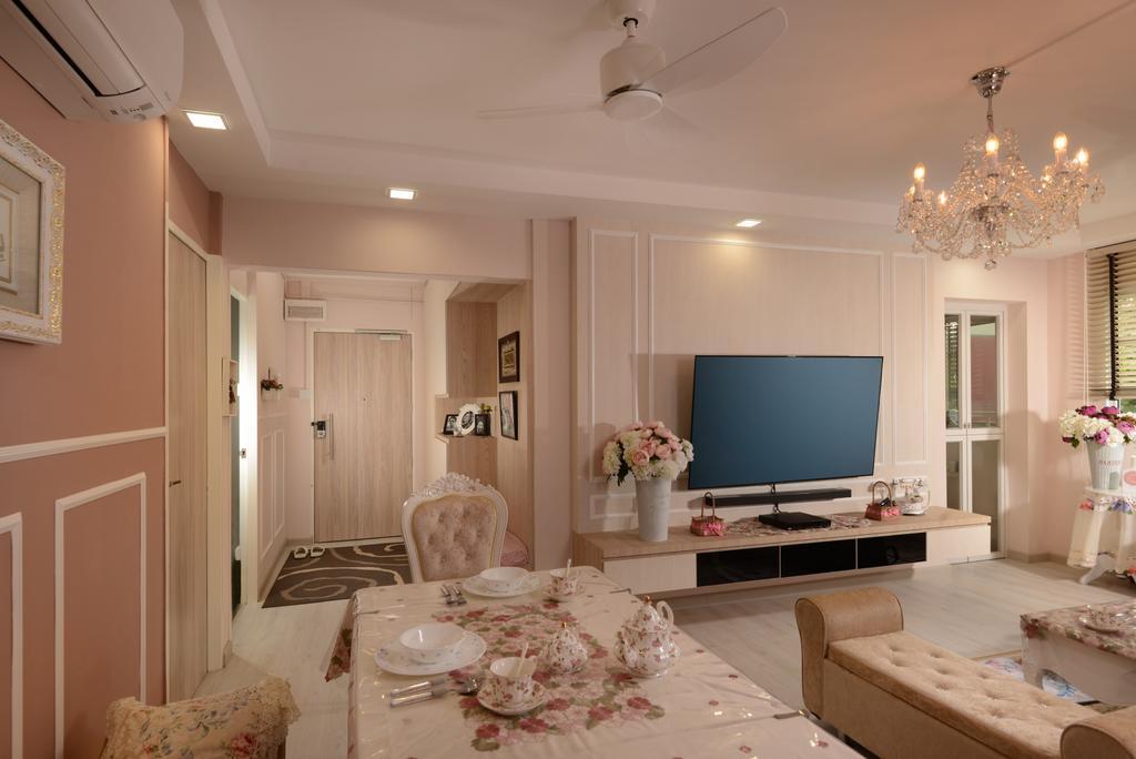 Vintage, HDB, Living Room, Pasir Ris Drive 6, Interior Designer, Darwin Interior, Contemporary