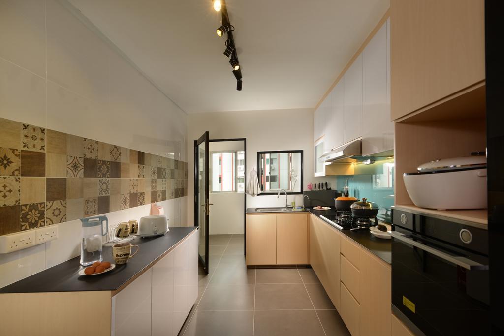 Contemporary, HDB, Kitchen, Tampines Street 2, Interior Designer, Darwin Interior