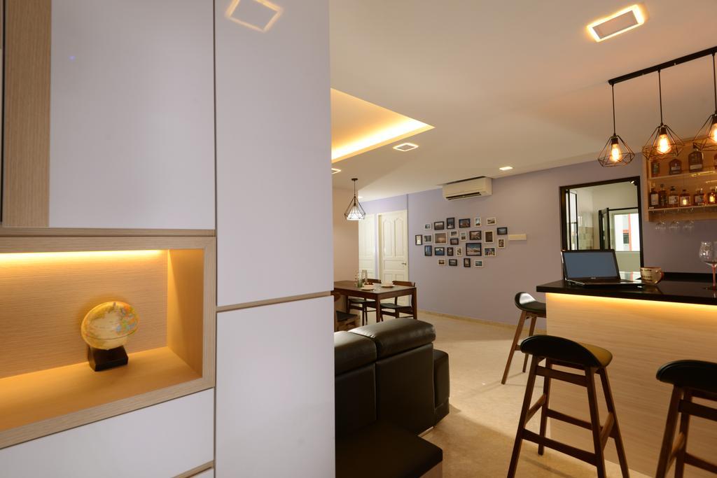 Contemporary, HDB, Living Room, Tampines Street 2, Interior Designer, Darwin Interior